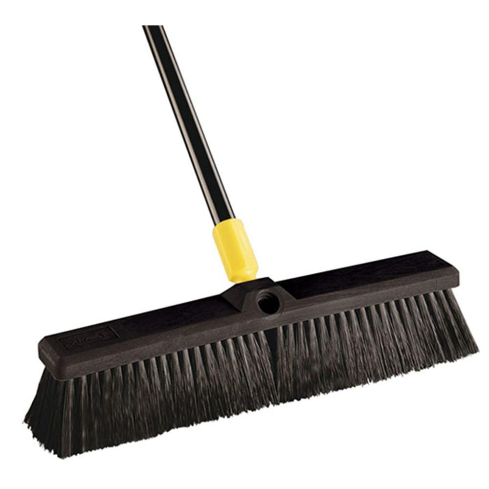 Quickie Bulldozer 18 in. Smooth Surface Pushbroom (4-Pack)