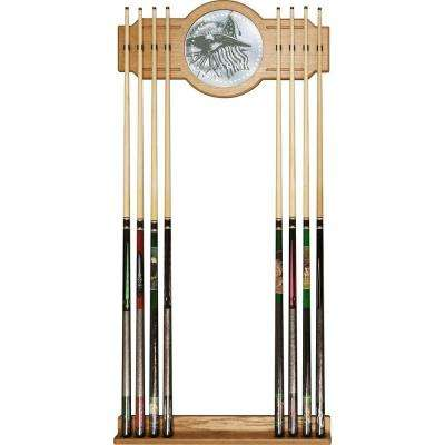 U.S Army This We'll Defend 30 in. Wooden Billiard Cue Rack with Mirror