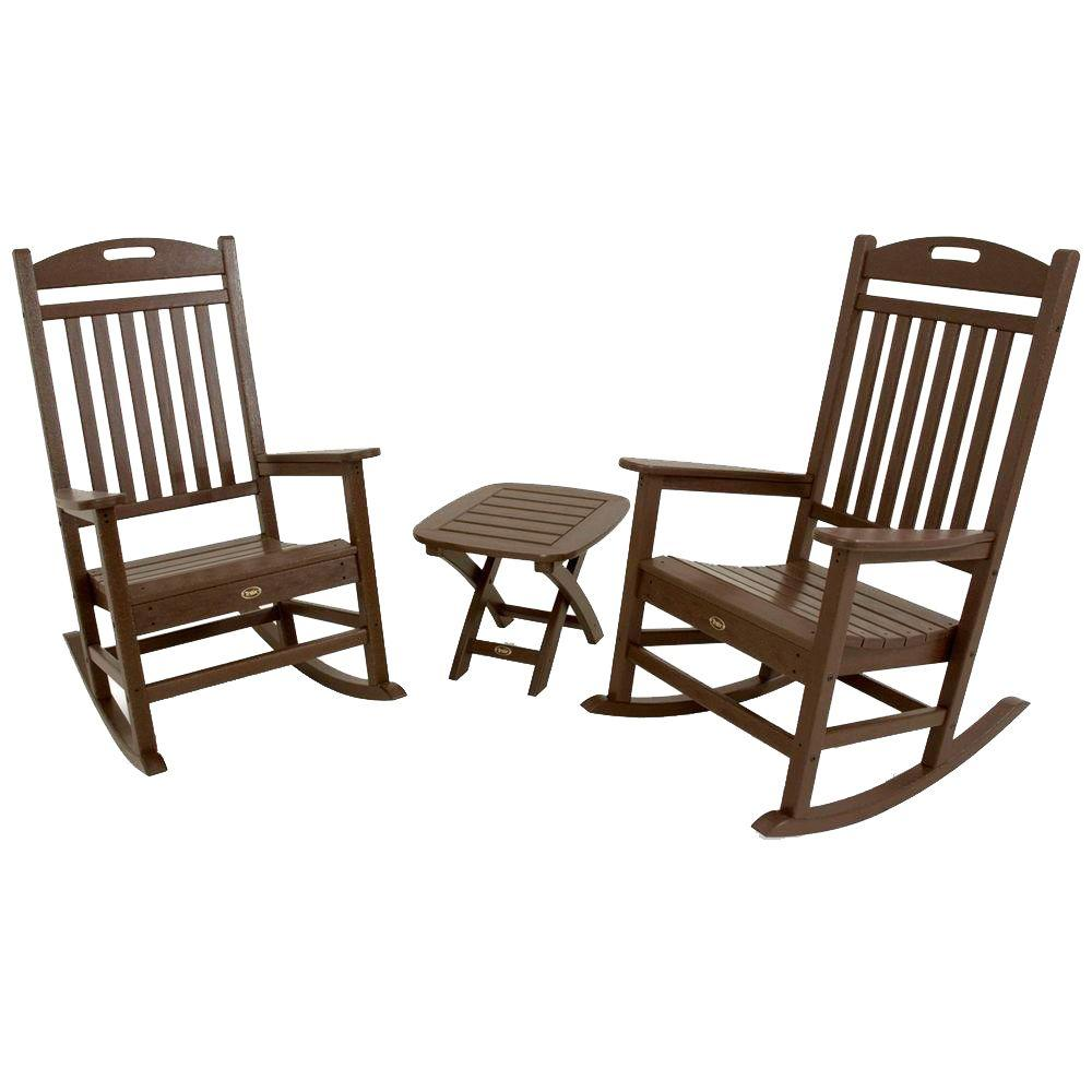 Trex Outdoor Furniture Yacht Club Vintage Lantern 3-Piece Patio Rocker Set