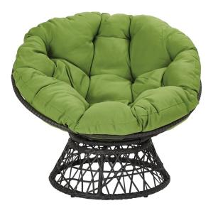 Astonishing Osp Home Furnishings Papasan Chair With Green Round Pillow Pabps2019 Chair Design Images Pabps2019Com