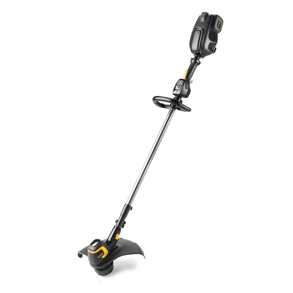 Poulan Pro 15 in. 58-Volt Lithium-Ion Electric Cordless String Trimmer Battery & Charger Included