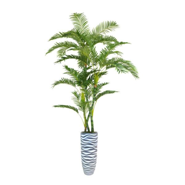 Laura Ashley 94 in. Palm Tree Artificial Faux Dcor in Resin