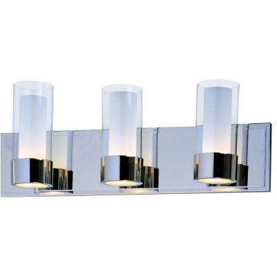 Silo 3-Light Polished Chrome Bath Vanity Light