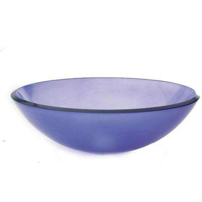Translucence Vessel Sink in Frosted Violet