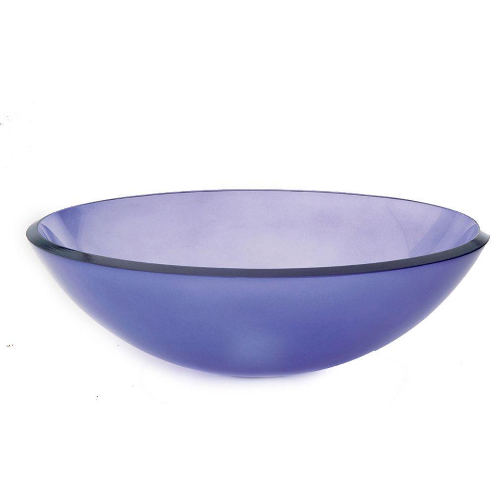 Translucence Vessel Sink in Frosted Violet