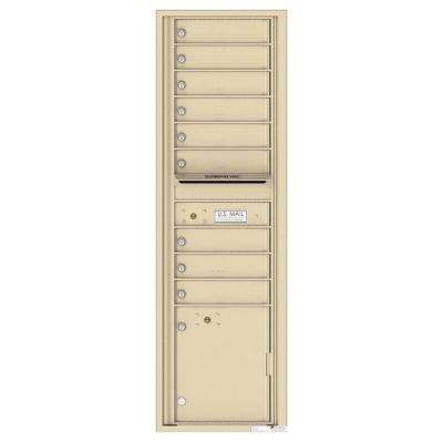 Versatile 9-Compartment 1-Outgoing 2-Parcel Lockers Wall-Mount 4C Mailbox