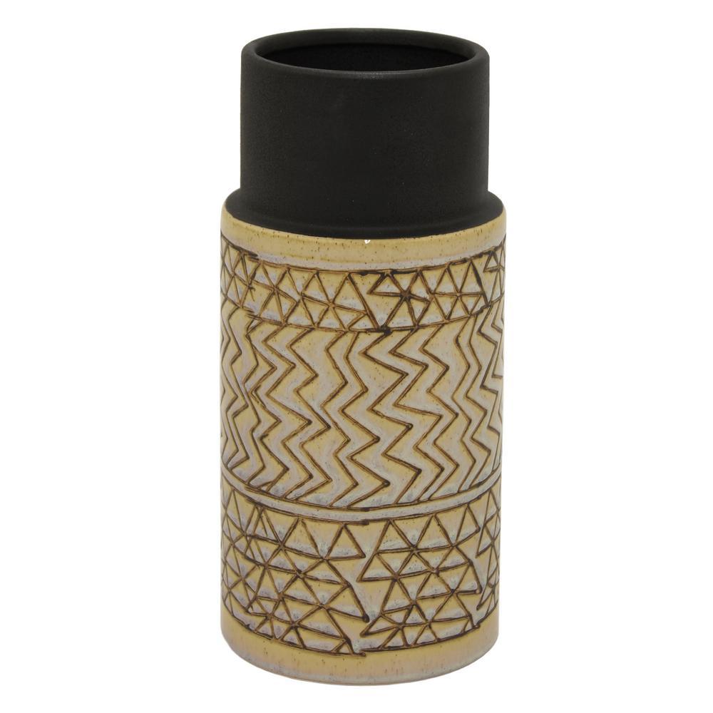 12 in. White Ceramic Vase