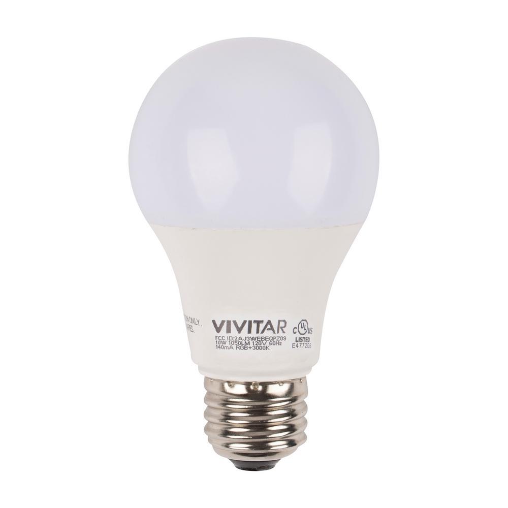 75W Equivalent 1050-Lumen Wi-Fi Smart Multi Colored LED Light Bulb