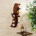 undefined Calabria 12-1/2 in. W Wall Mount Wine Rack in Rust