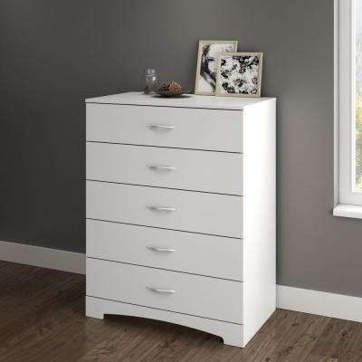 Step One 5-Drawer Pure White Dresser