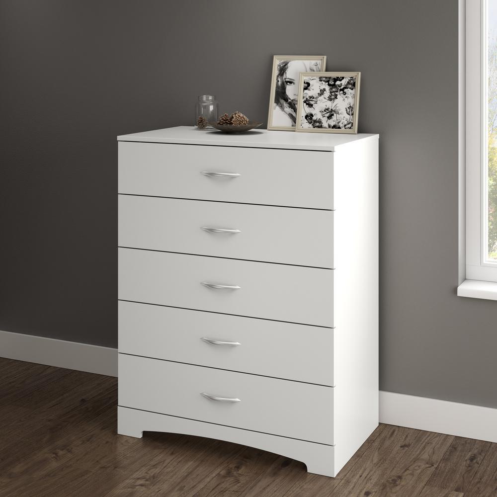 Step One 5-Drawer Pure White Dresser