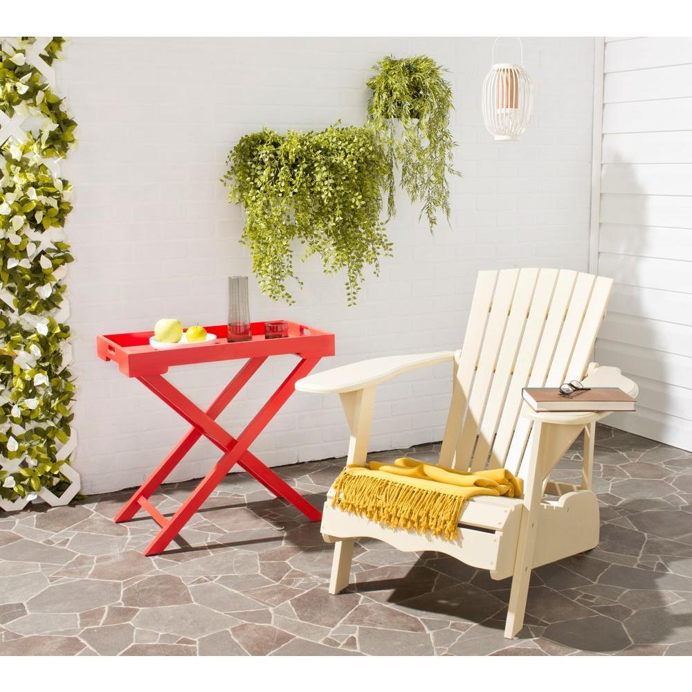 Mopani Off-White Wood Adirondack Chair