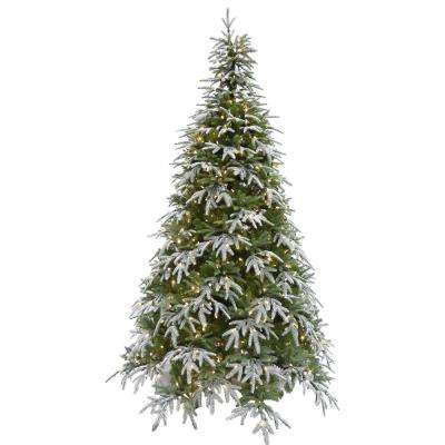9 ft. Hunter Fir Artificial Christmas Tree with LED String Lighting