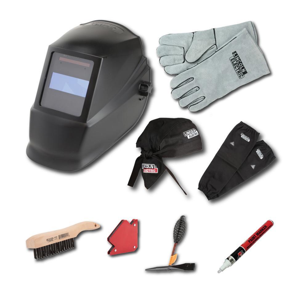 Lincoln Electric Auto-Darkening Welding Helmet Starter Kit with No ...