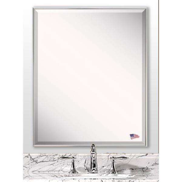 undefined 58.125 in. x 20.125 in. Echo Polished Silver Full Body Vanity Mirror