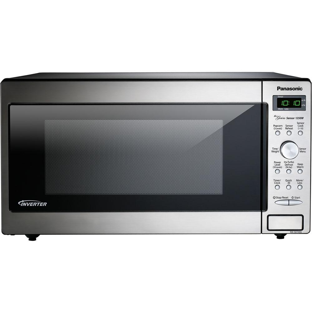 Panasonic 1.6 cu. ft. Countertop Microwave in Stainless Steel Built-In Capable with Sensor Cooking and Inverter Technology
