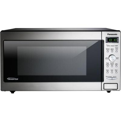 1.6 cu. ft. Countertop Microwave in Stainless Steel Built-In Capable with Sensor Cooking and Inverter Technology
