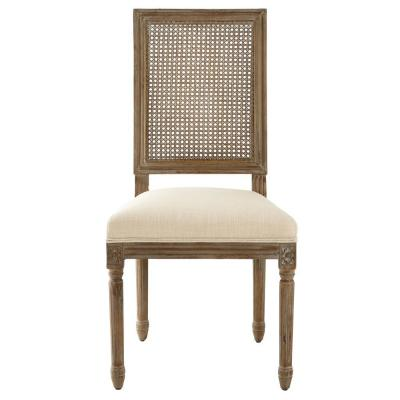 Jacques Cane Antique Brown Square Back Dining Side Chairs (Set of 2)