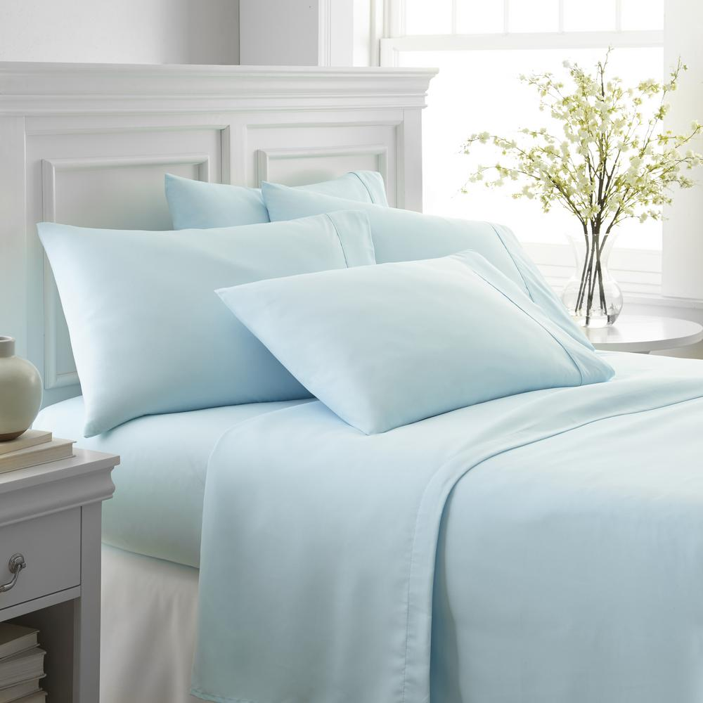 Becky Cameron Performance Aqua Queen 6 Piece Bed Sheet Set