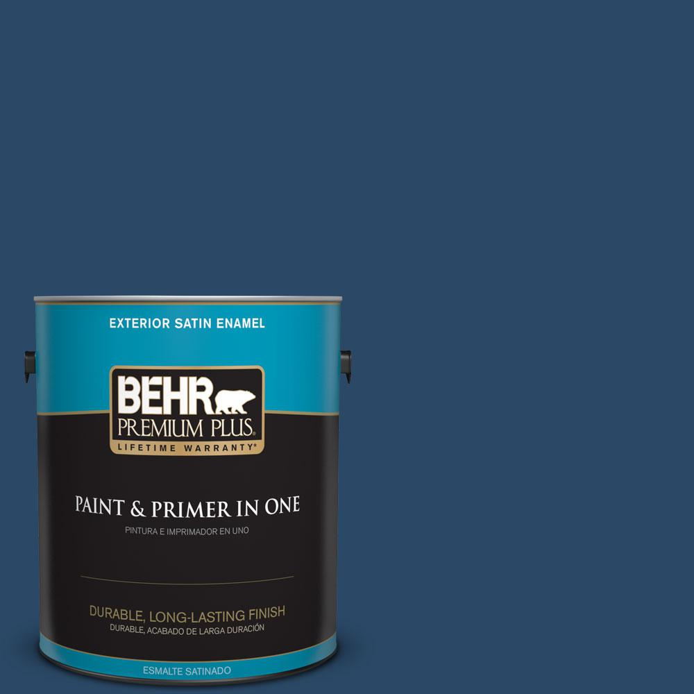 1-gal. #580D-7 Deep Royal Satin Enamel Exterior Paint