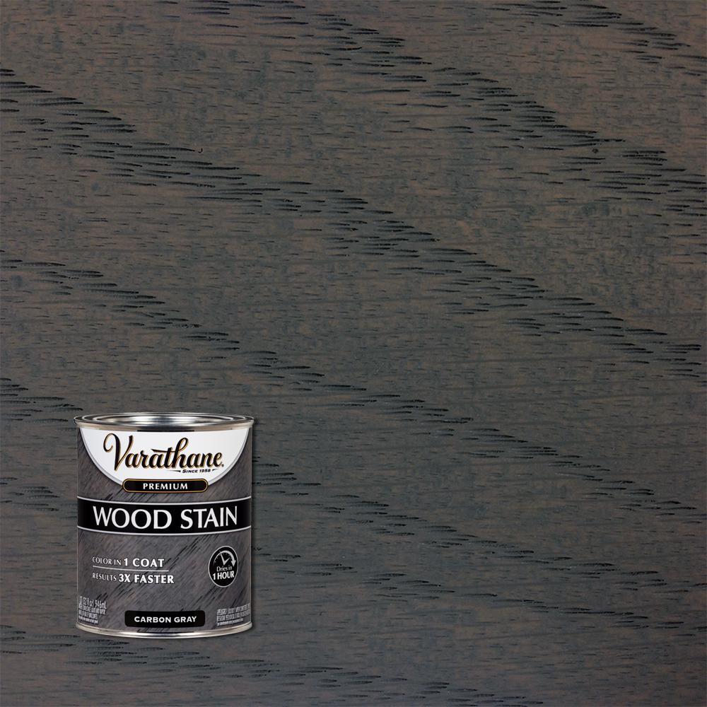 Varathane 1 qt. Carbon Gray Premium Fast Dry Interior Wood Stain