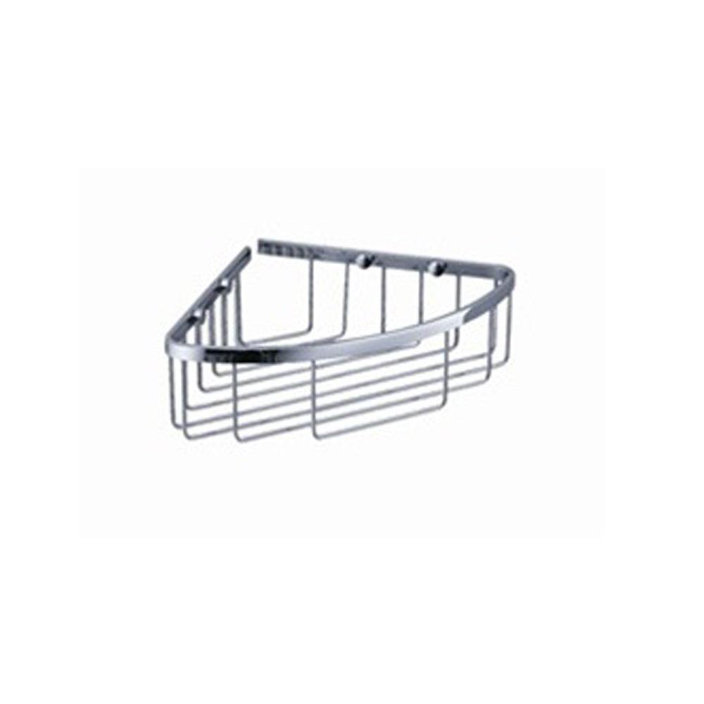 Single Corner Wire Basket in Chrome
