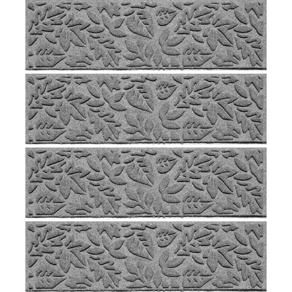 Medium Gray 8.5 in. x 30 in. Fall Day Stair Tread (Set of 4)