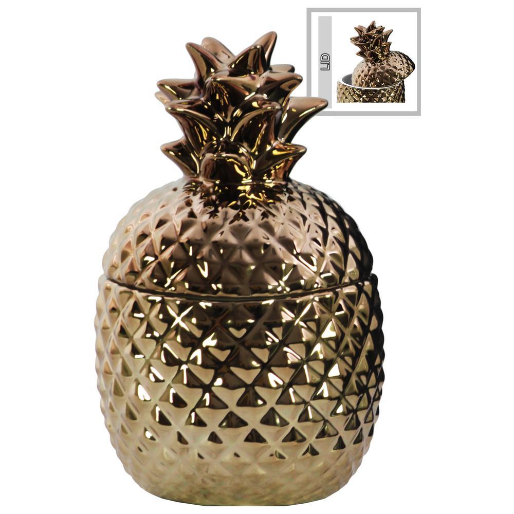 Copper Gloss Ceramic Decorative Vase