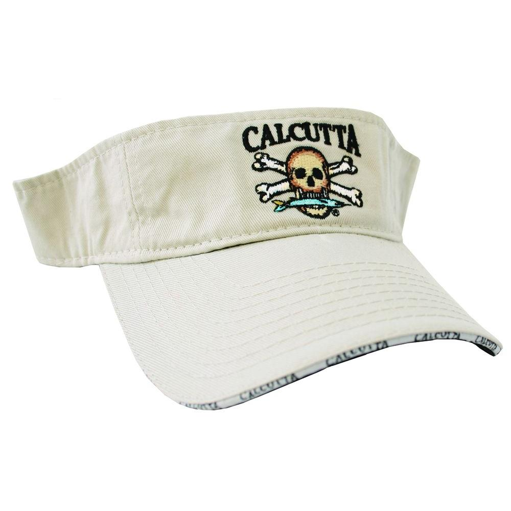 Calcutta Adjustable Strap Low Profile Visor in Putty with Fade-Resistant Logo