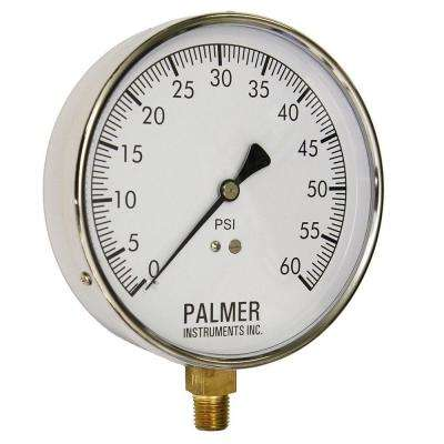4.5 in. Dial 60 psi Stainless Steel Case Contractor Gauge