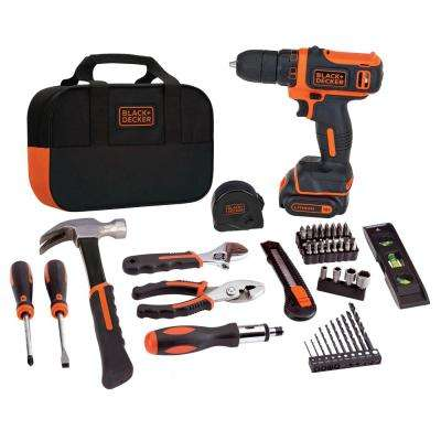 5148ad6d8 12-Volt MAX Lithium-Ion Cordless Project Kit (57-Piece) with · BLACK+DECKER  ...
