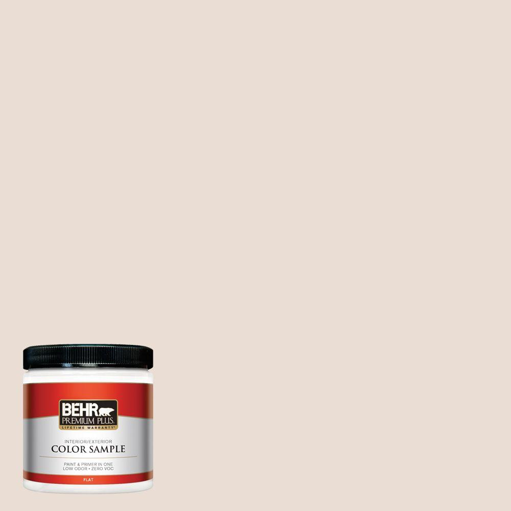 BEHR Premium Plus 8 oz. #700C-2 Malted Milk Flat Zero VOC Interior/Exterior Paint and Primer in One Sample