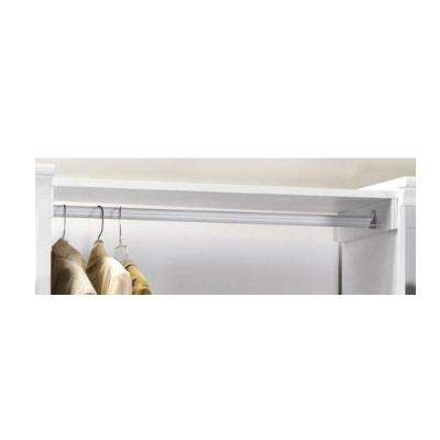 Manhattan 0.75 in. White Storage Shelf and Pole Kit