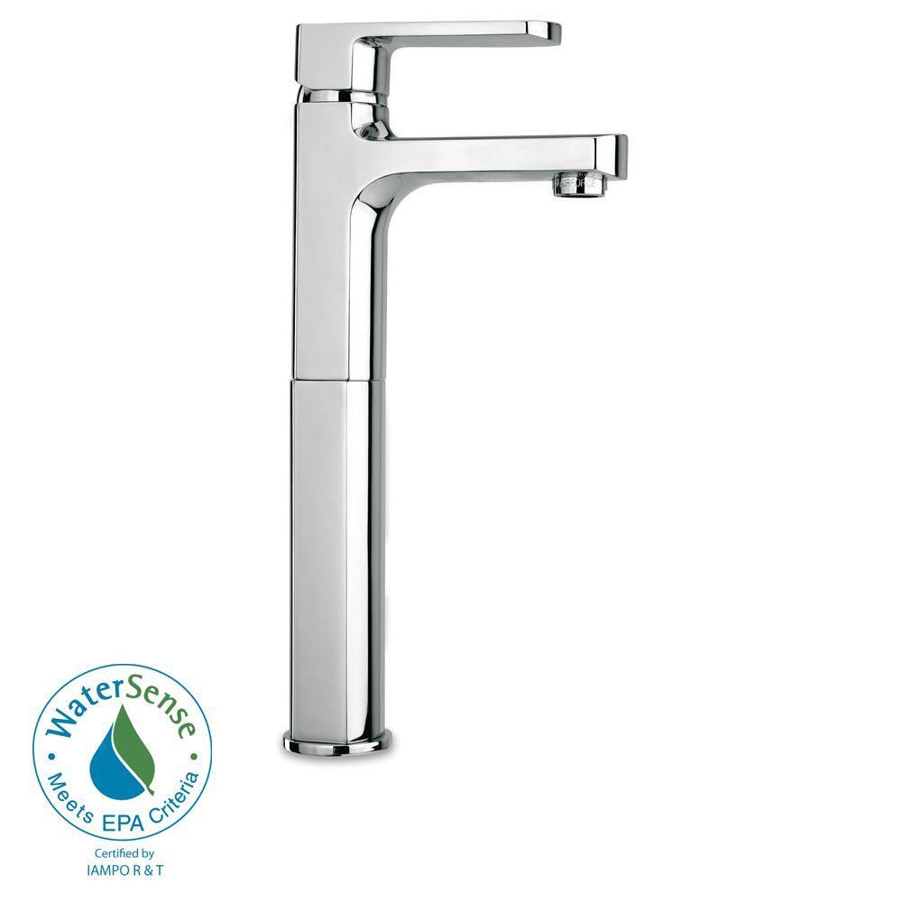Novello Single Hole Single-Handle High-Arc Vessel Bathroom Faucet in Chrome