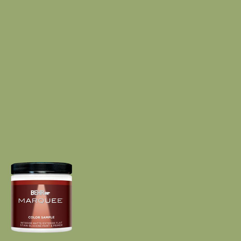 Exterior Paint Colors Home Depot: BEHR MARQUEE 8 Oz. #MQ4-43 Green Plaza Interior/Exterior