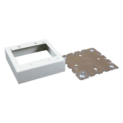 Wiremold 500 and 700 Series Metal Surface Raceway Two Gang Electrical Box, Ivory
