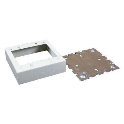 500 and 700 Series Metal Surface Raceway Two Gang Electrical Box, Ivory