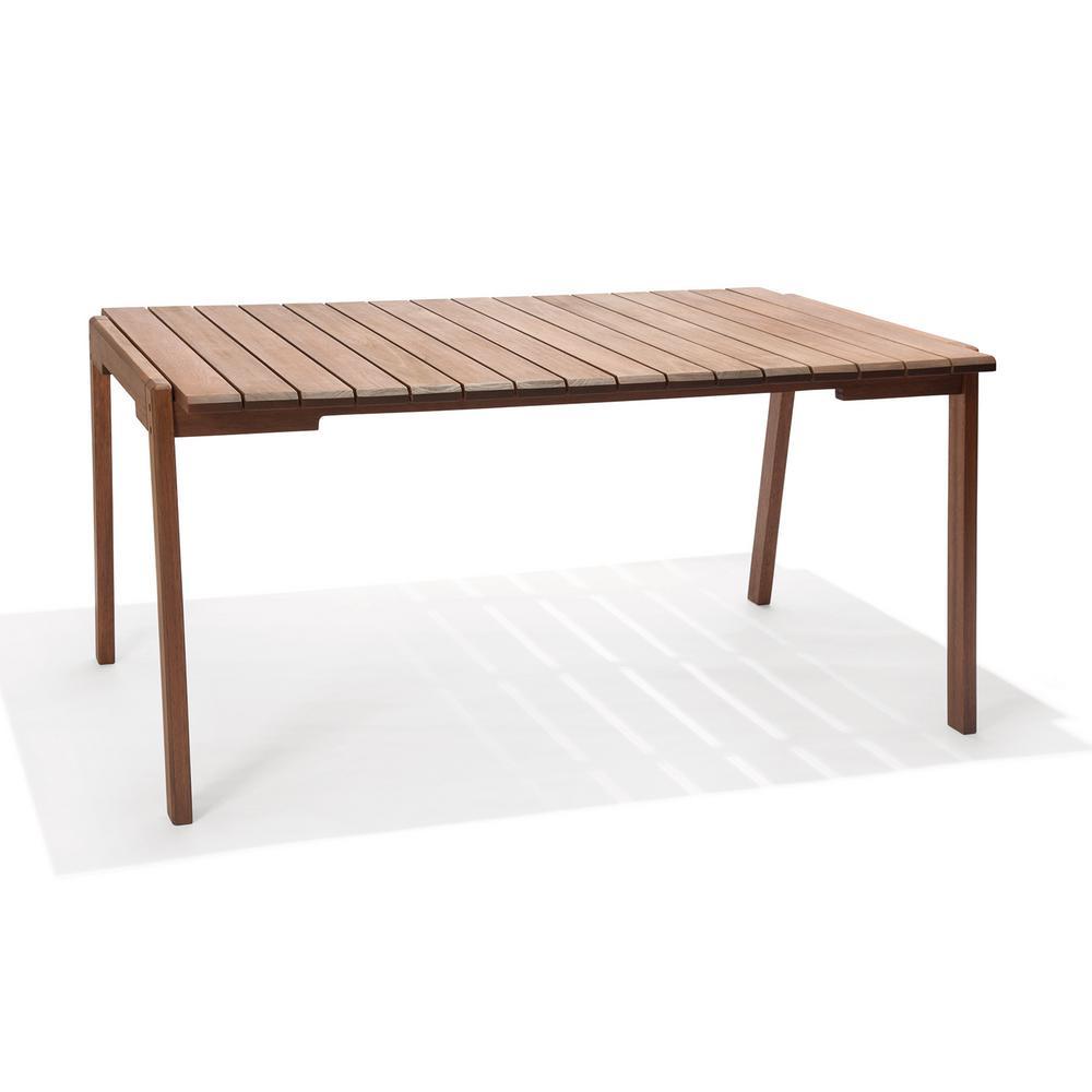 Otero Eucalyptus Wood Outdoor Dining Table