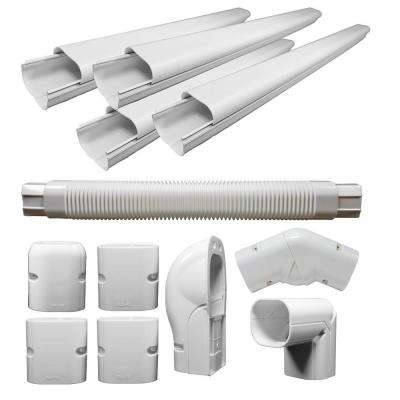 2.5 in. x 3 in. x 16 ft. Decorative PVC Line Cover Kit For Mini Split Air Conditioners and Heat Pumps