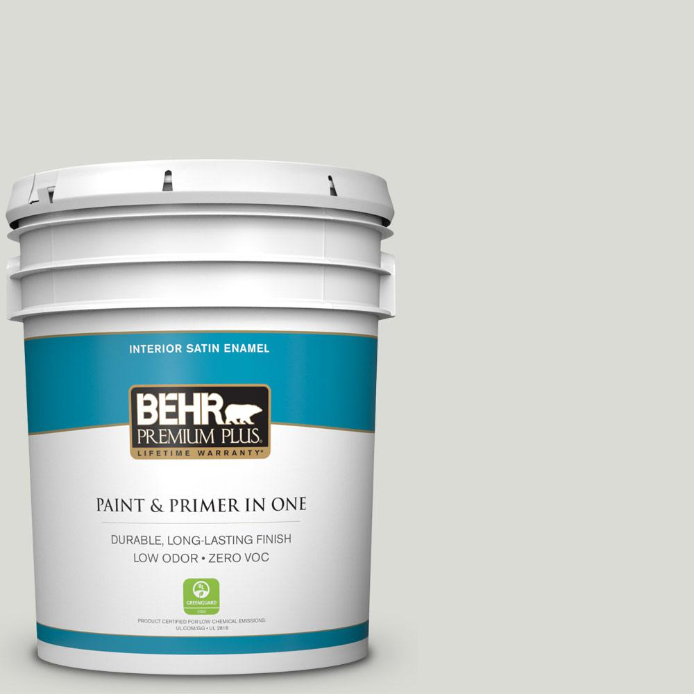 5-gal. #BWC-29 Silver Feather Satin Enamel Interior Paint