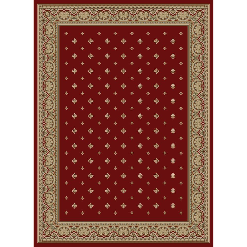Concord Global Trading Ankara Pin Dot Red 3 ft. 11 in. x 5 ft. 5 in. Area Rug