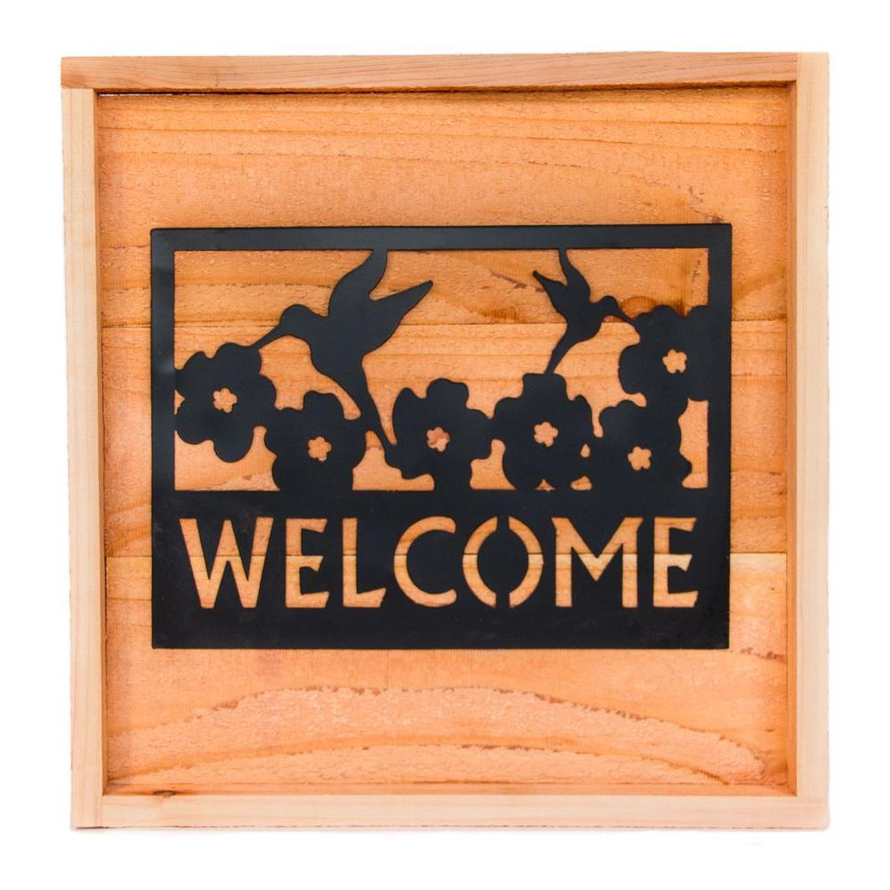 Hollis Wood Products 18 in. x 18 in. Wood Wall Art with Welcome Sign Beautiful Wall Art with Welcome Sign art piece. Wall art is a handsome addition to any home or outdoor patio. Indoor or outdoor application.
