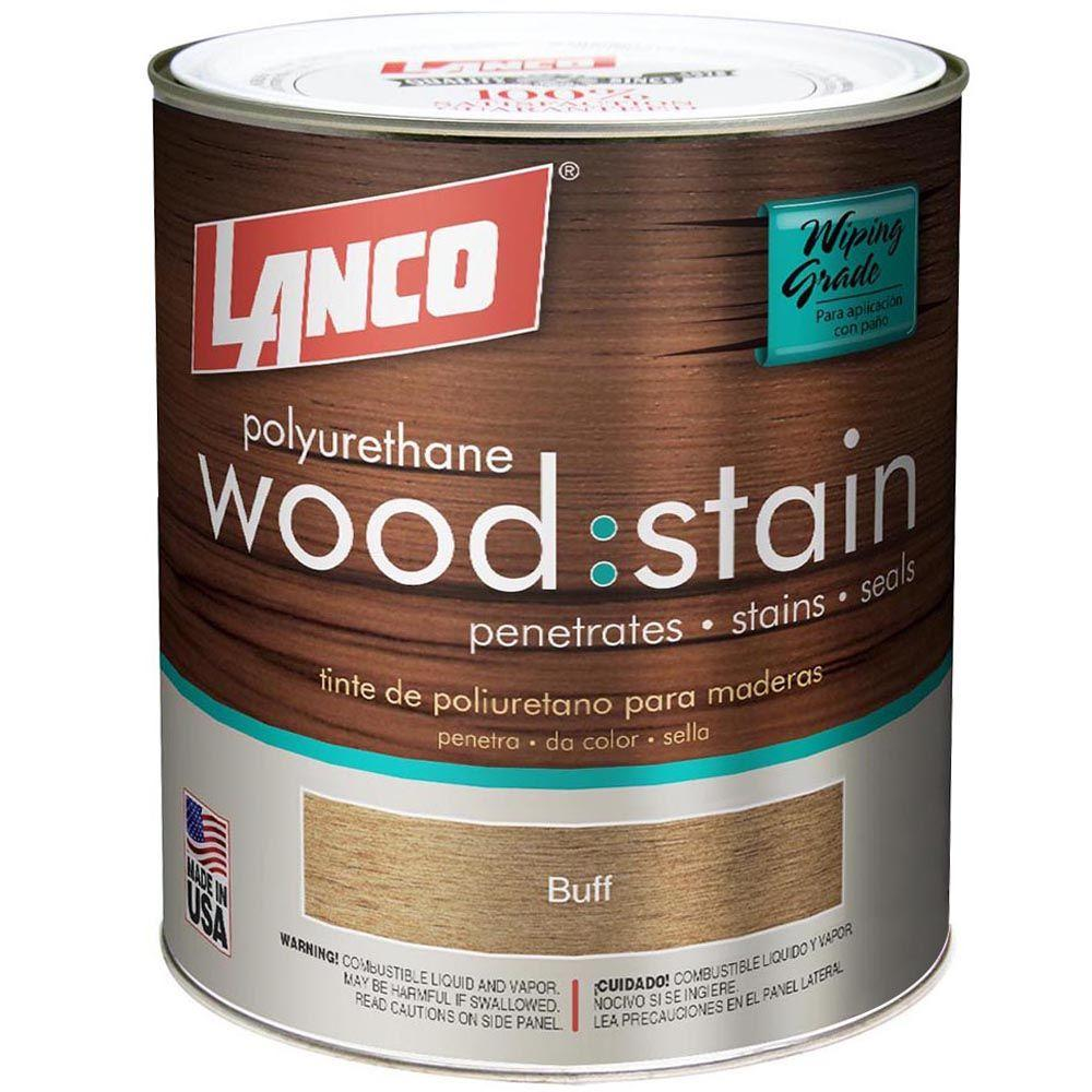 Wood Stain 1 qt. Buff Satin Polyurethane
