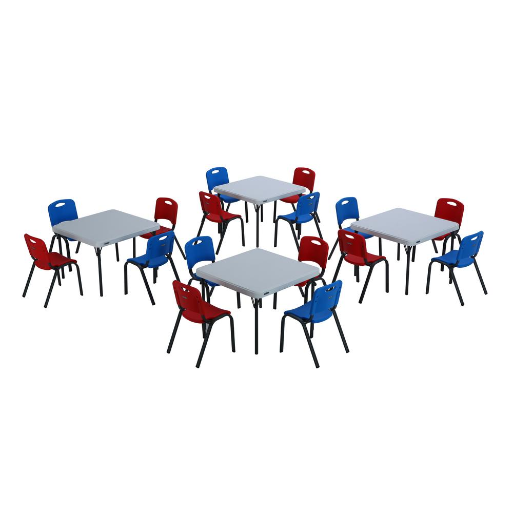 Lifetime Red White Blue Childrens Table Chair Set Red Blue White Red