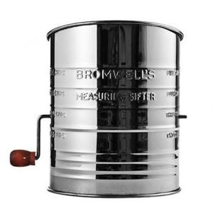 Jacob Bromwell All-American Stainless Steel Silver Flour Sifter by Jacob Bromwell