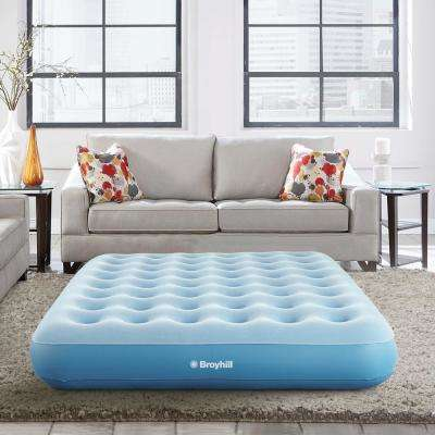10 in. Sleep Express Comfort Top Coil Queen Air Bed Mattress with External Pump