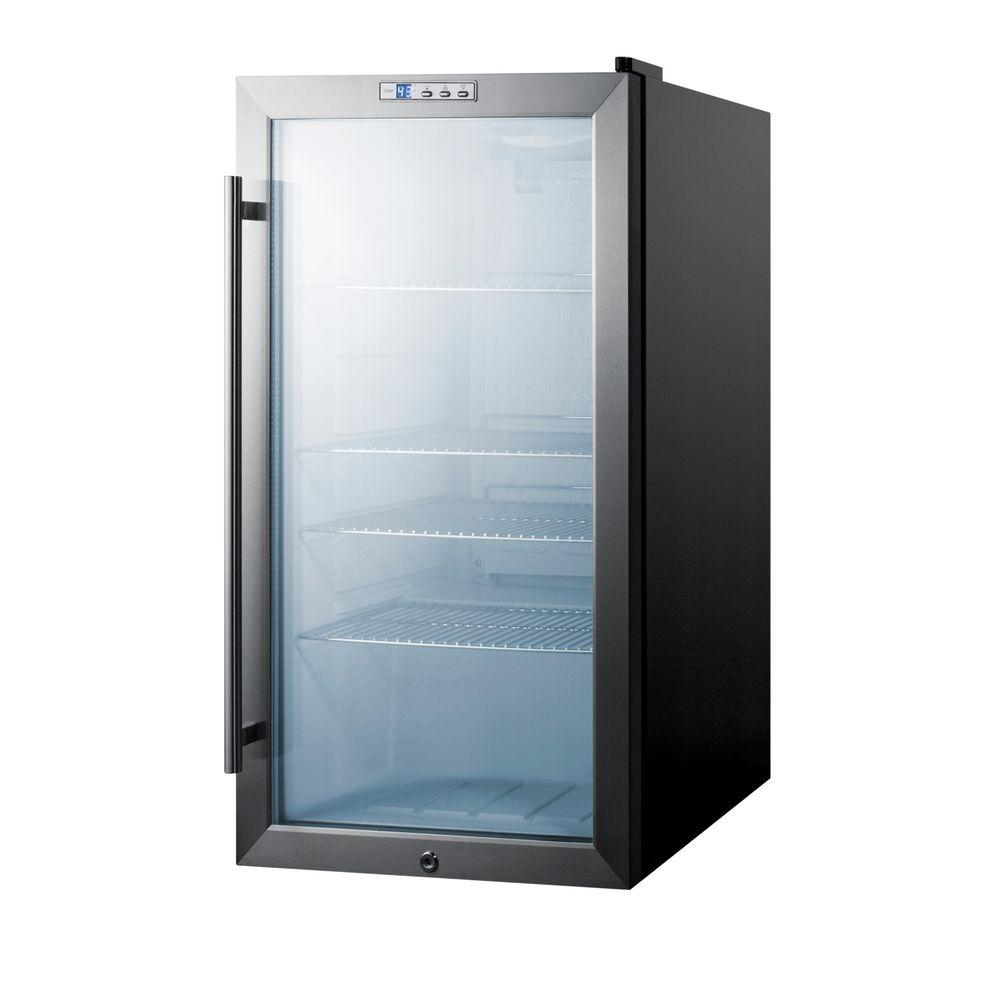 Summit appliance 19 in 94 12 oz can cooler scr486l the - Glass door fridge for home ...