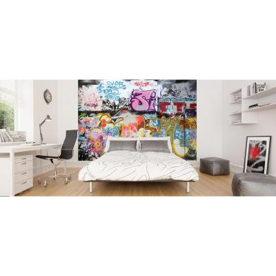 118 in. x 98 in. Graffiti Wall Mural