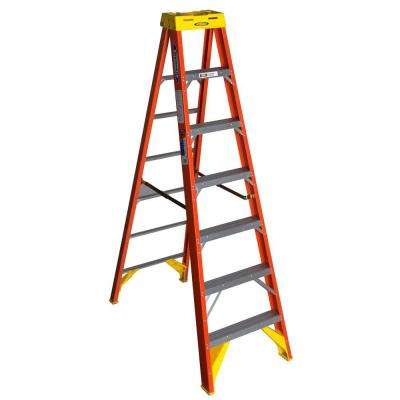 7 ft. Fiberglass Step Ladder with 300 lb. Load Capacity Type IA