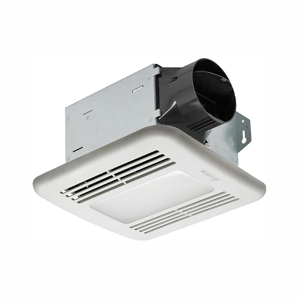Delta Breez Integrity Series 50 CFM Ceiling Bathroom Exhaust Fan with Dimmable LED Light, ENERGY STAR